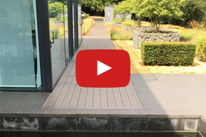 A video of a completed decking installation