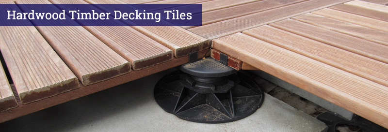An image of Hardwood Timber Decking Tiles
