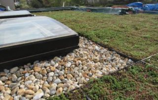 An image of a completed green roof installation