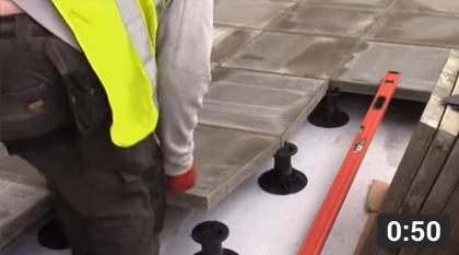 Laying Paving Slabs Using Wallbarn Adjustable Pedestals