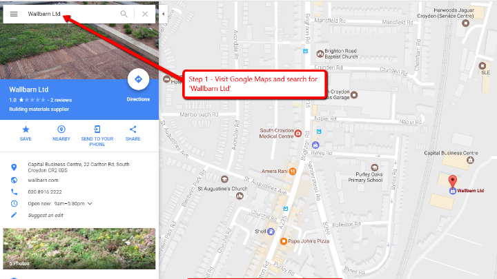 How To Leave Us a Google Review|A image showing how to leave a Google Maps review