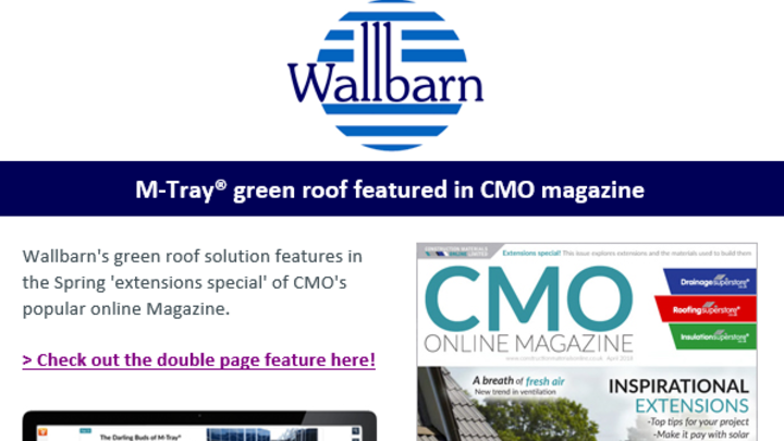 A screenshot of the Wallbarn feature in CMO magazine