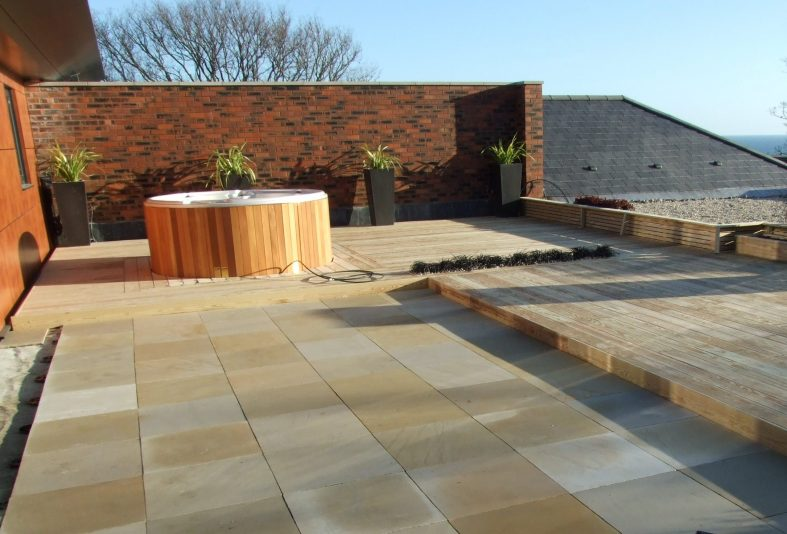 9mm rubber paving pads on roof terrace