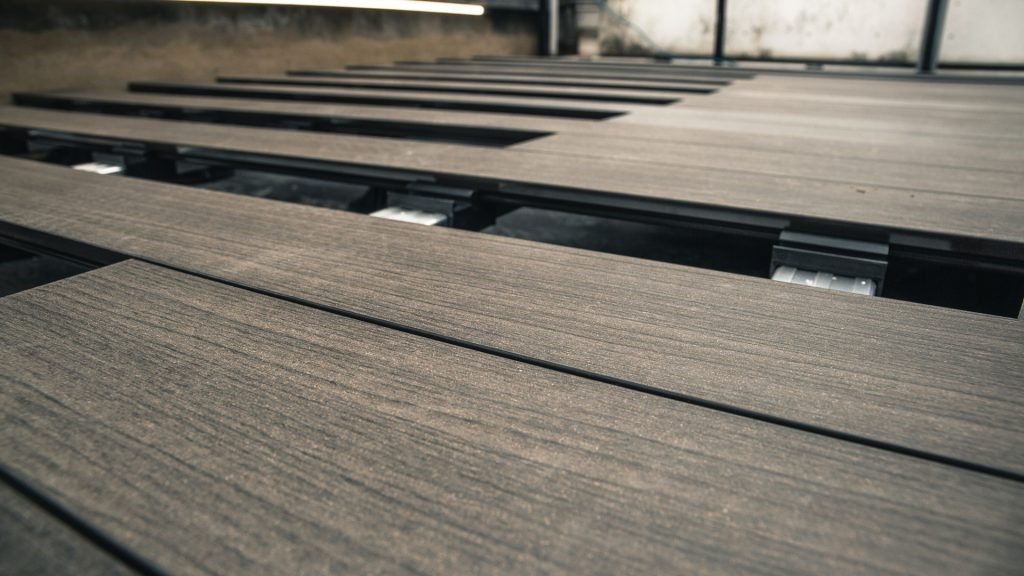 A decking installation in Fulham