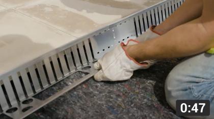 M- Tray® - Installing the edging bar