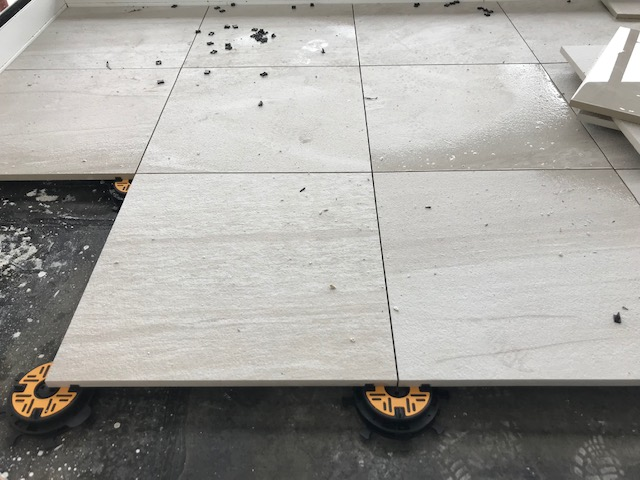 Mini Balance self levelling paving pedestals wth porcelain