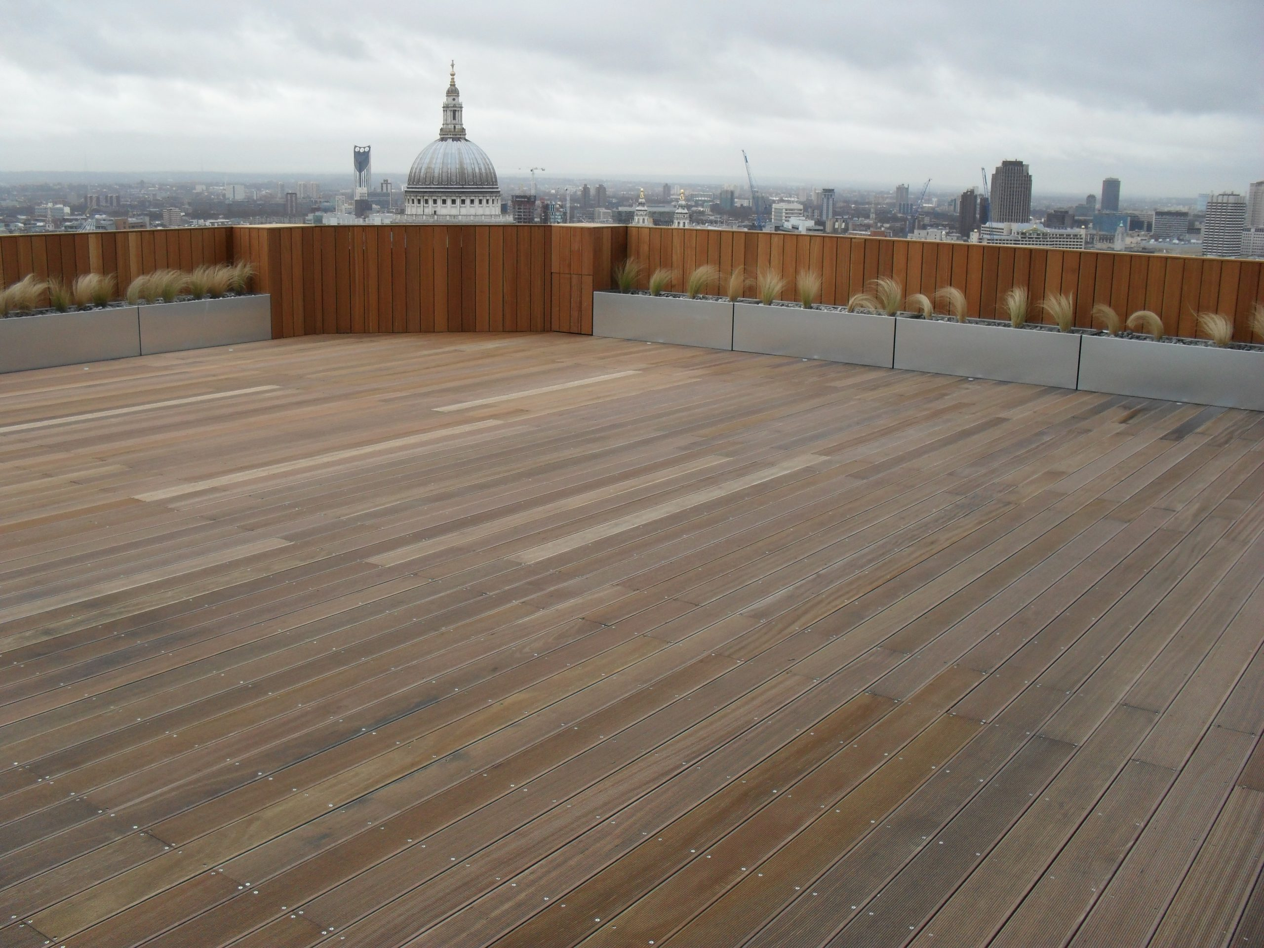 St Pauls decking terrace with Wallbarn adjustable pedestals