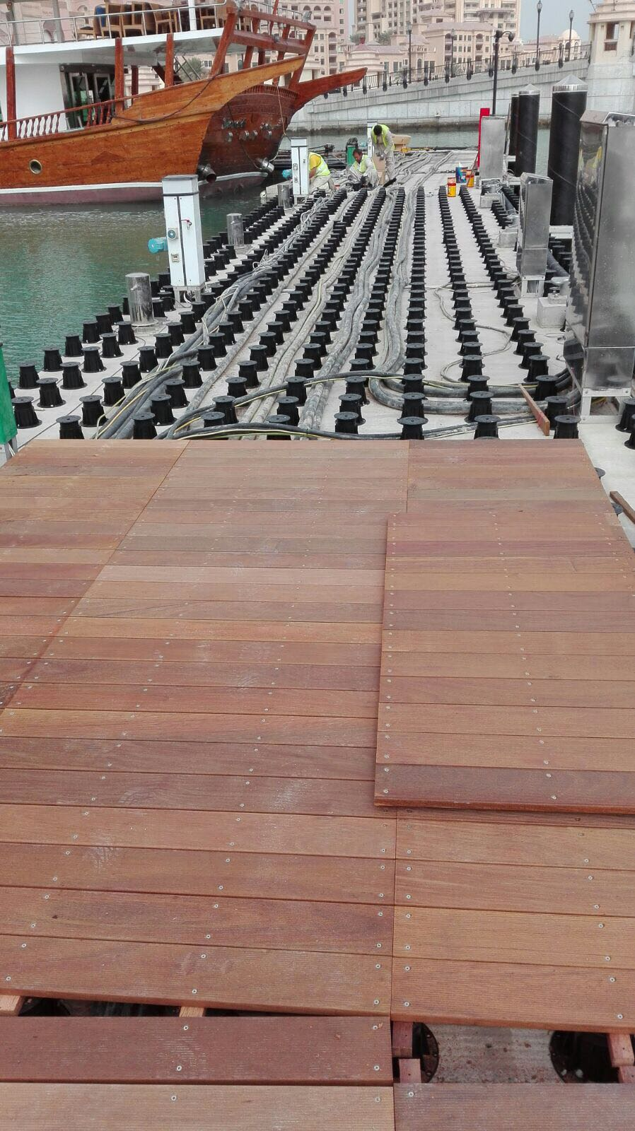 TD Megapad adjustable decking pedestals for decking Doha