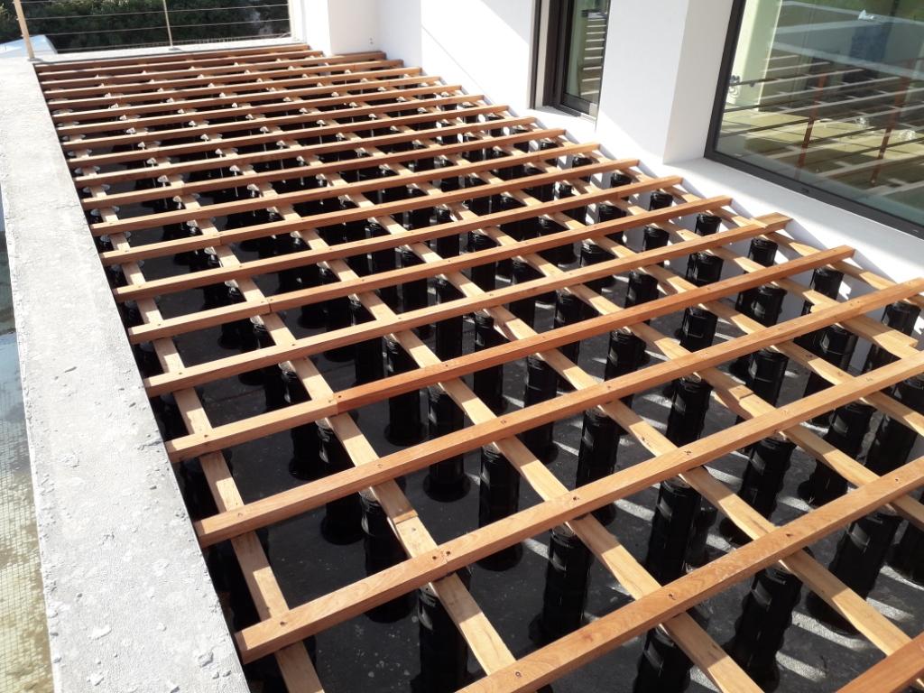 TD Megapads decking construction step 2