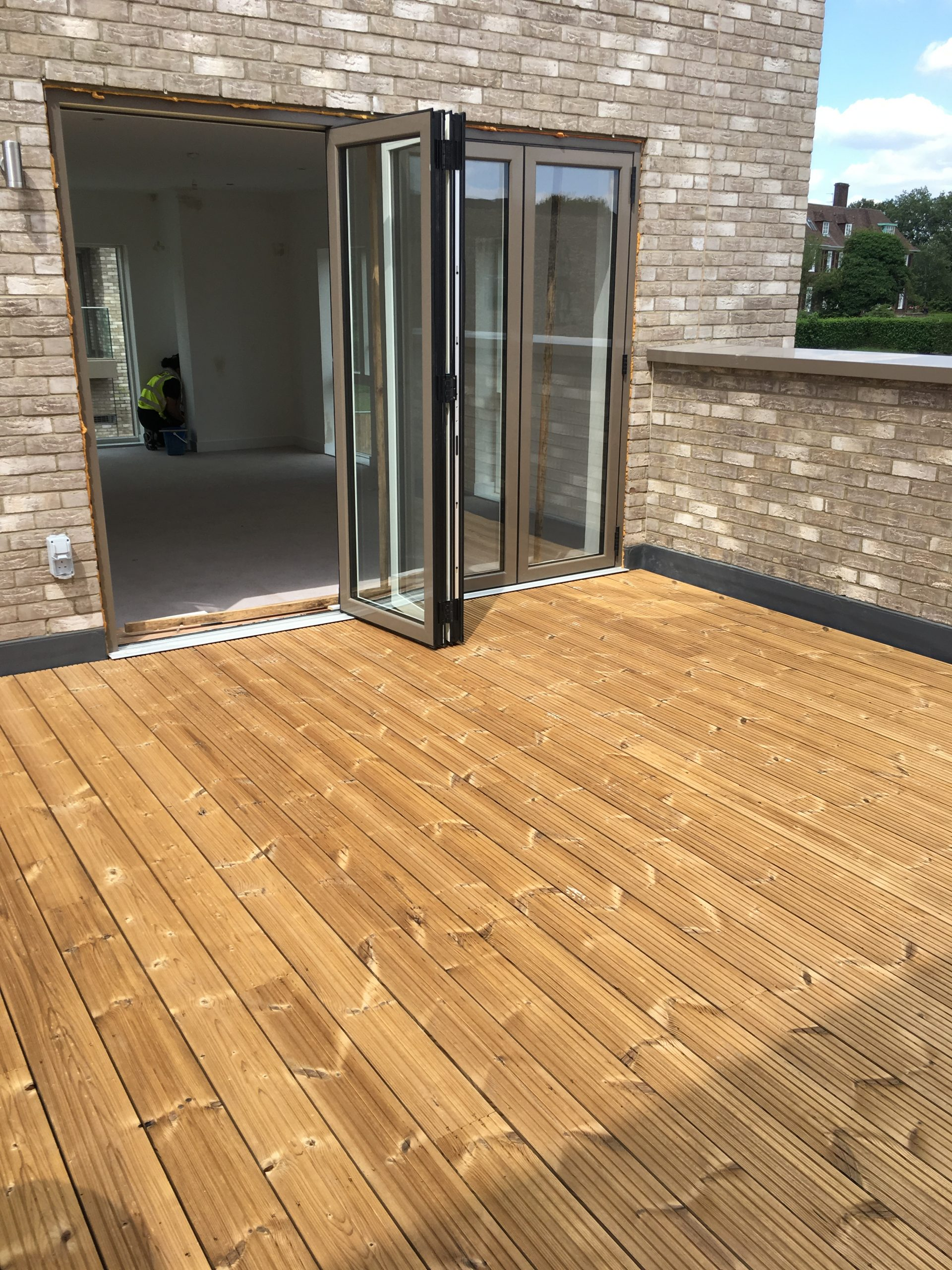 Universal timber decking support pad finished timber deck 3