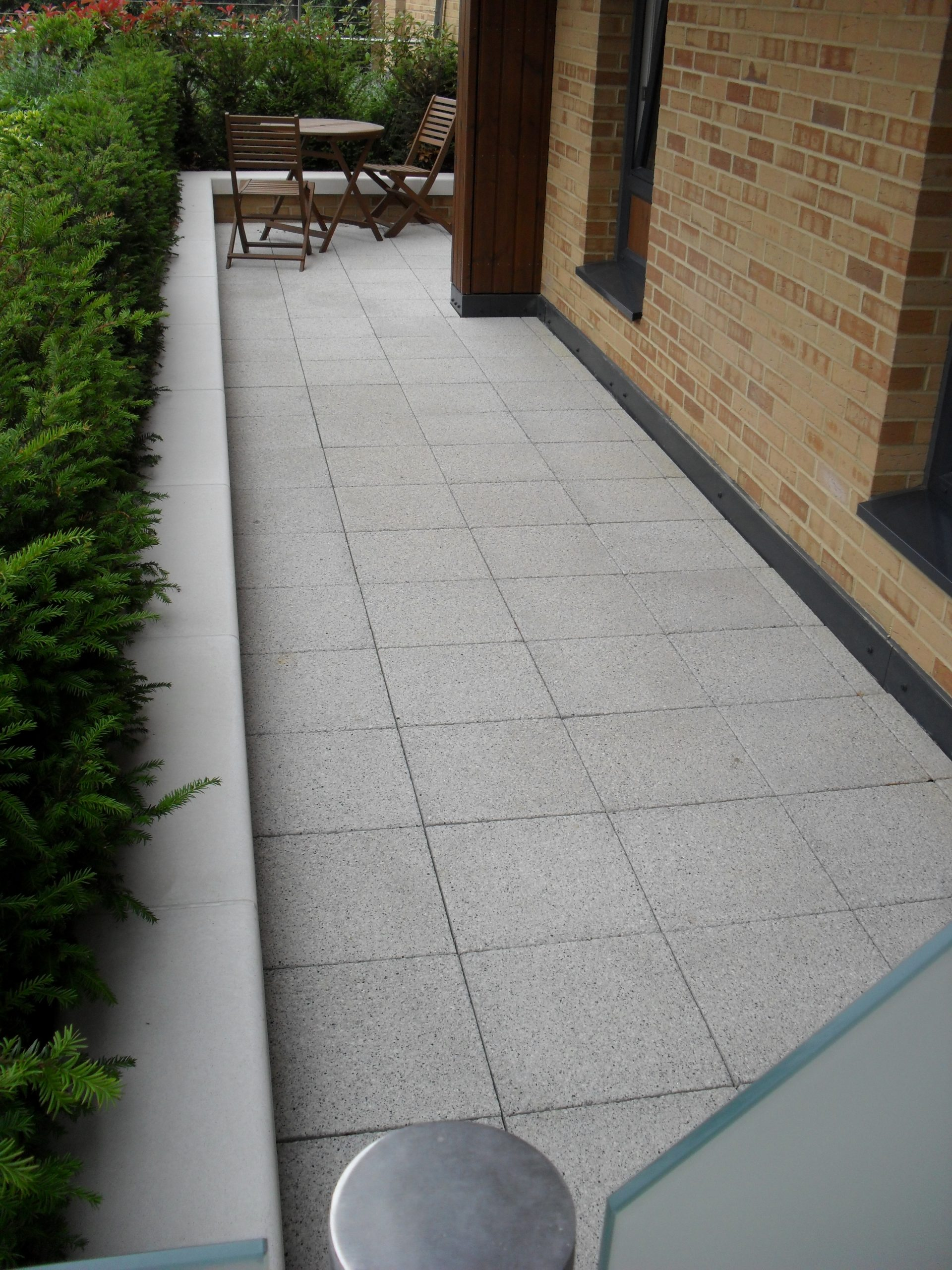 paving pedestal - terrace area