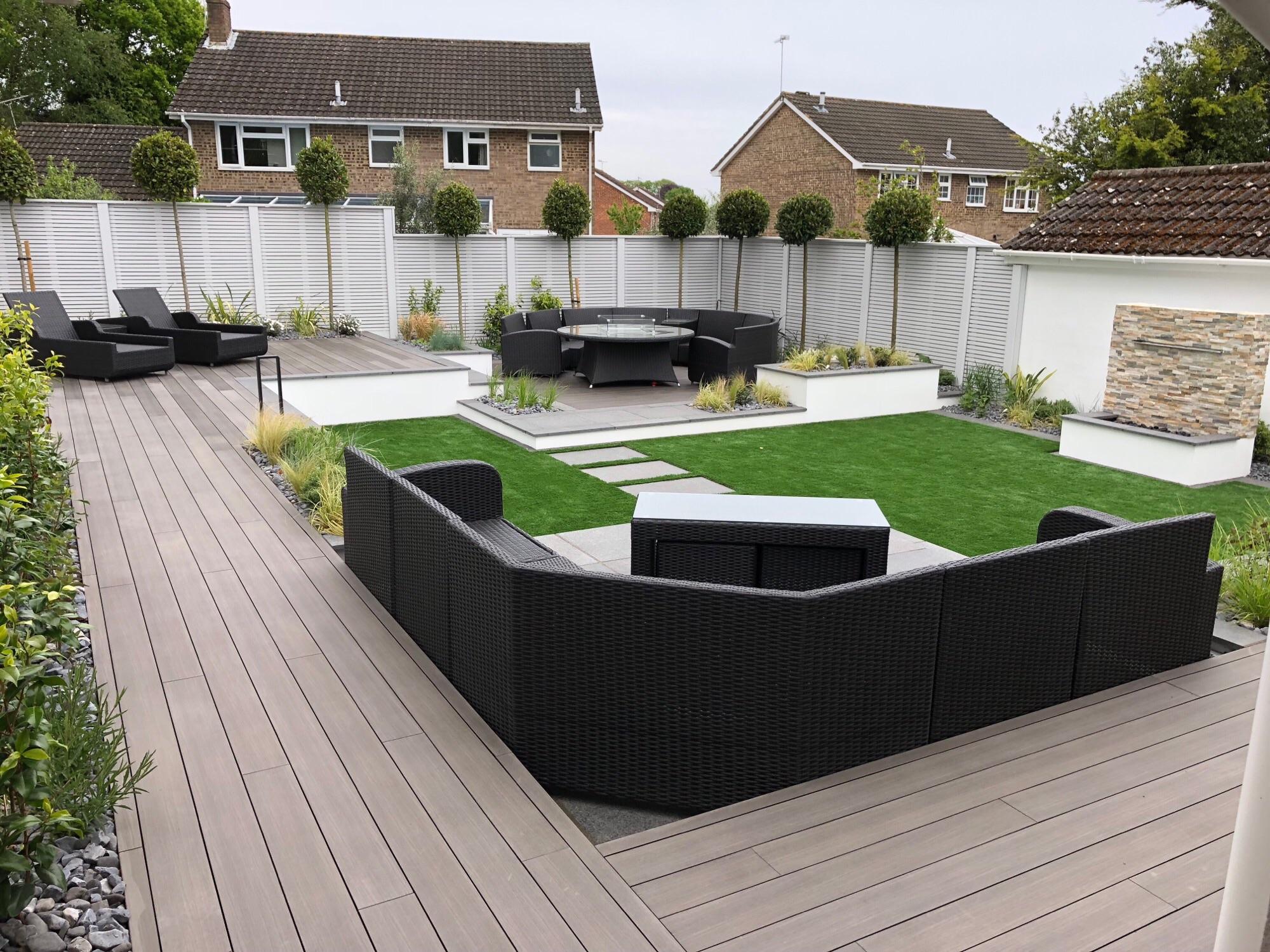 Moor Oak composite decking project Poole