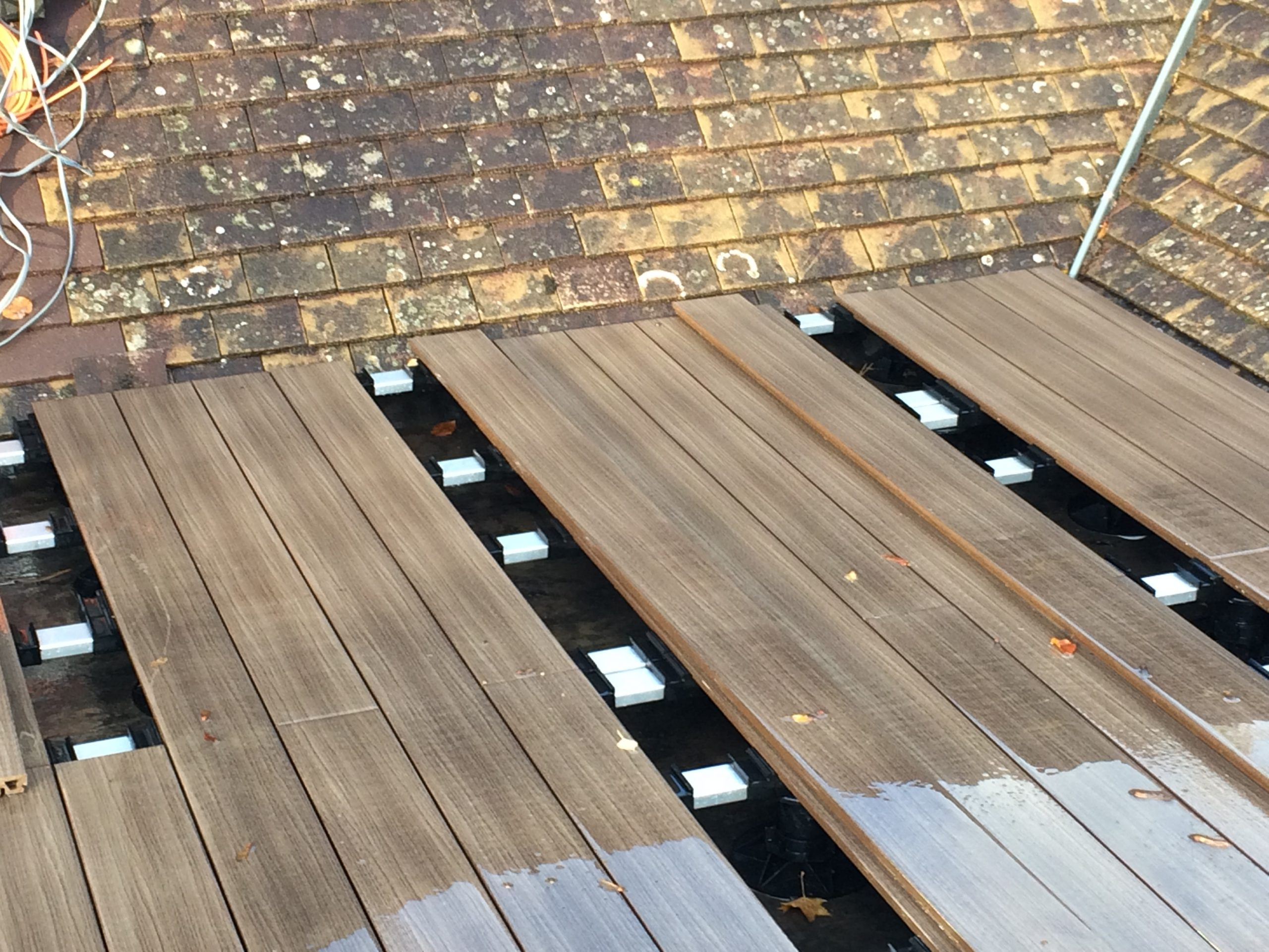 composite decking frame and boards