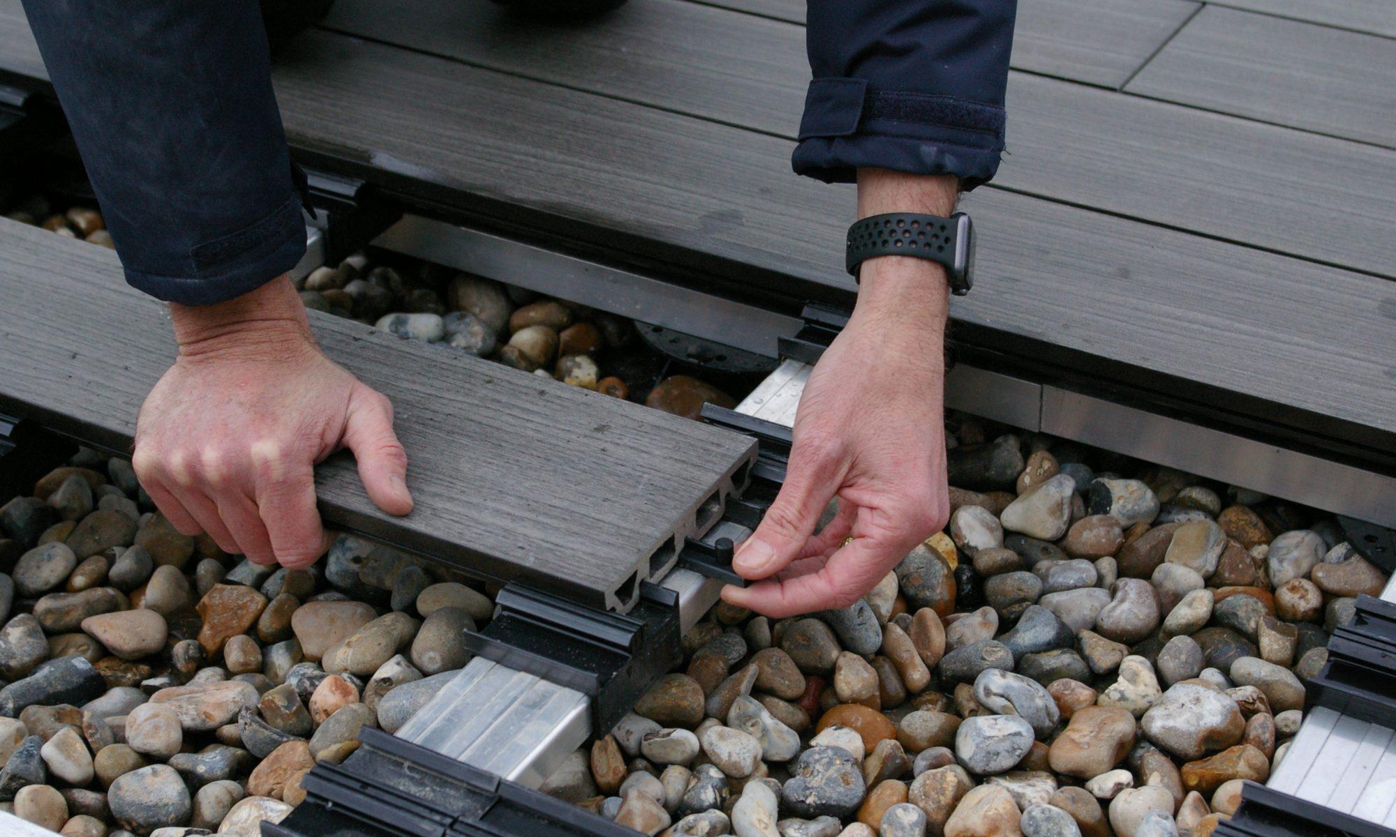 fitting iJack connectors between deckboards