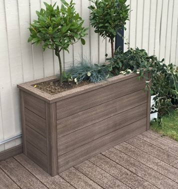 how to build planters with deckboards