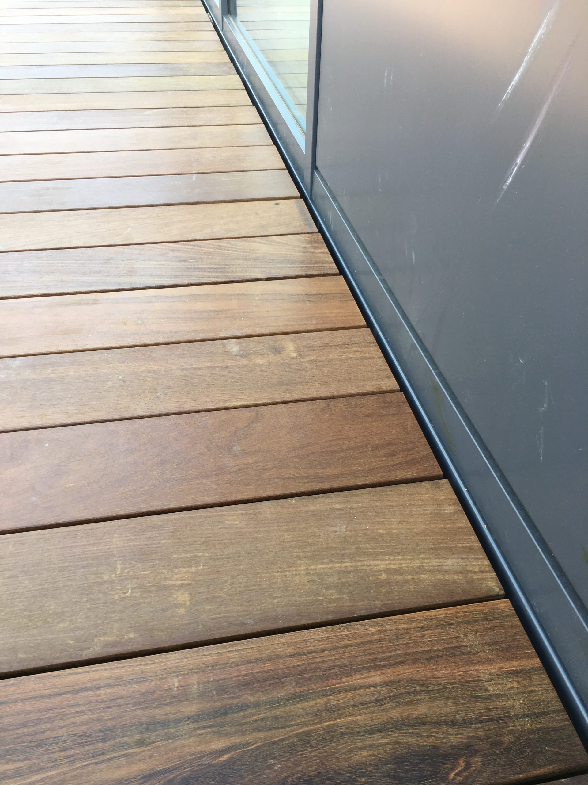 ipe hardwood decking bare feet