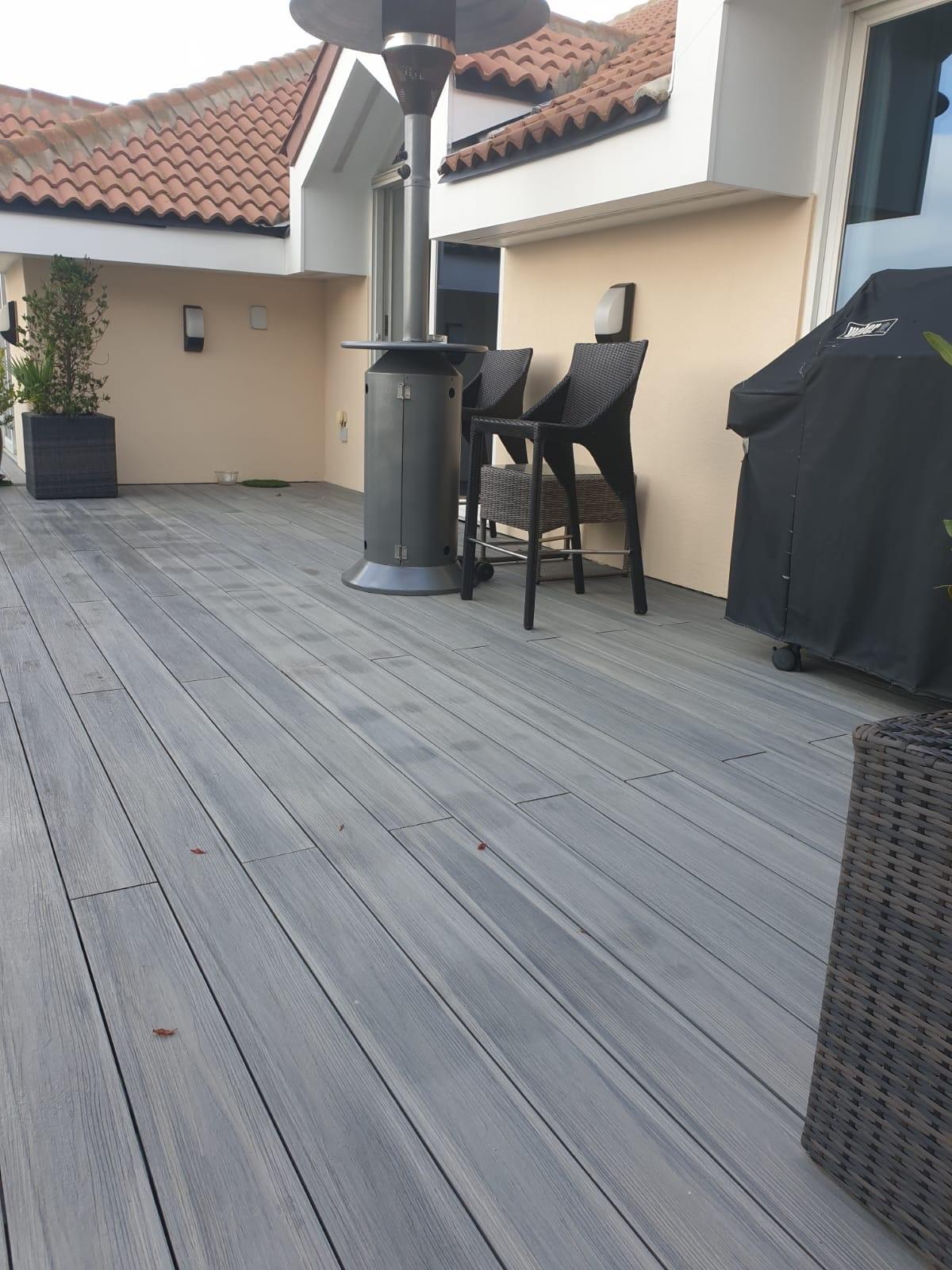 wood plastic composite decking Denim colour