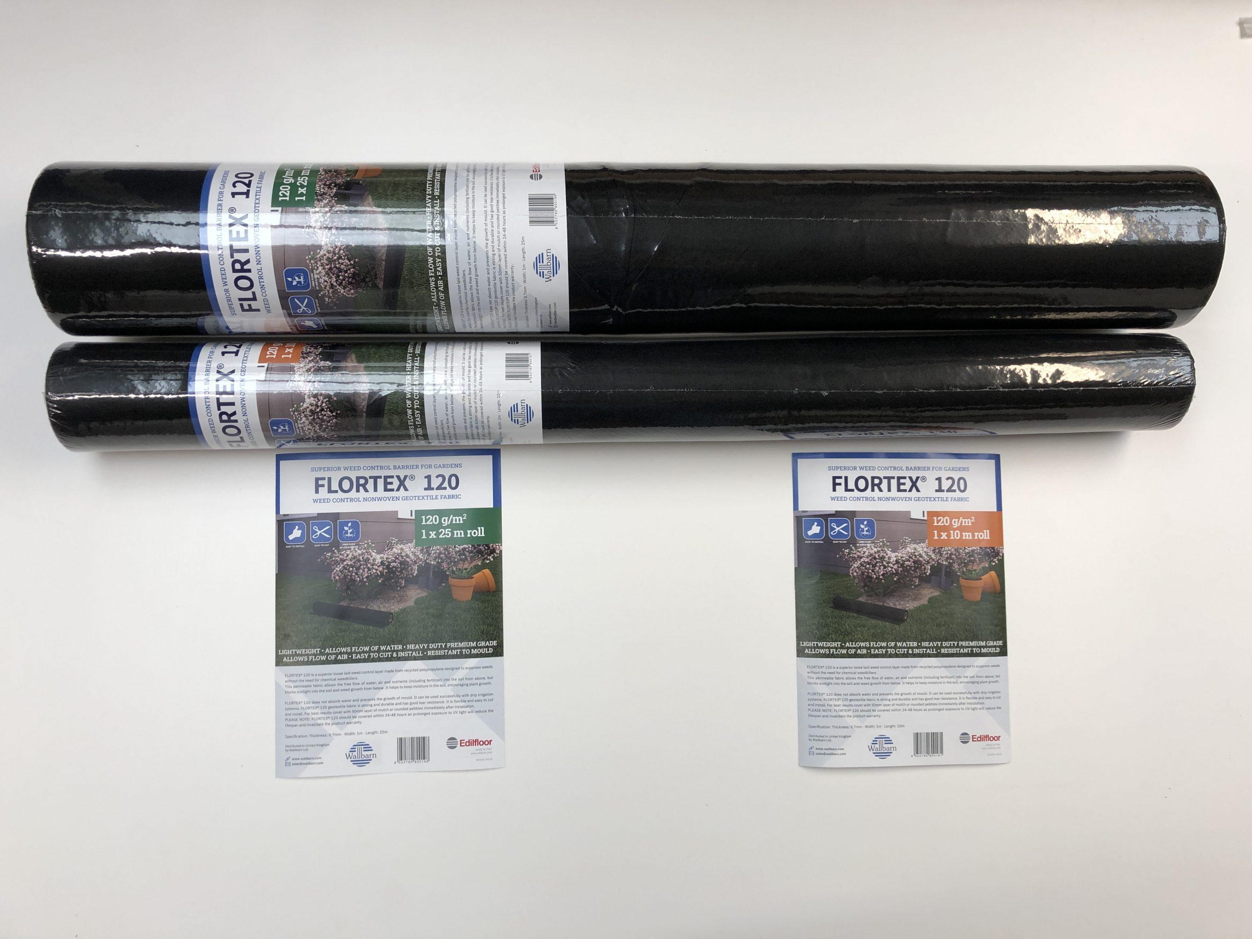 Flortex weed control fabric roll size