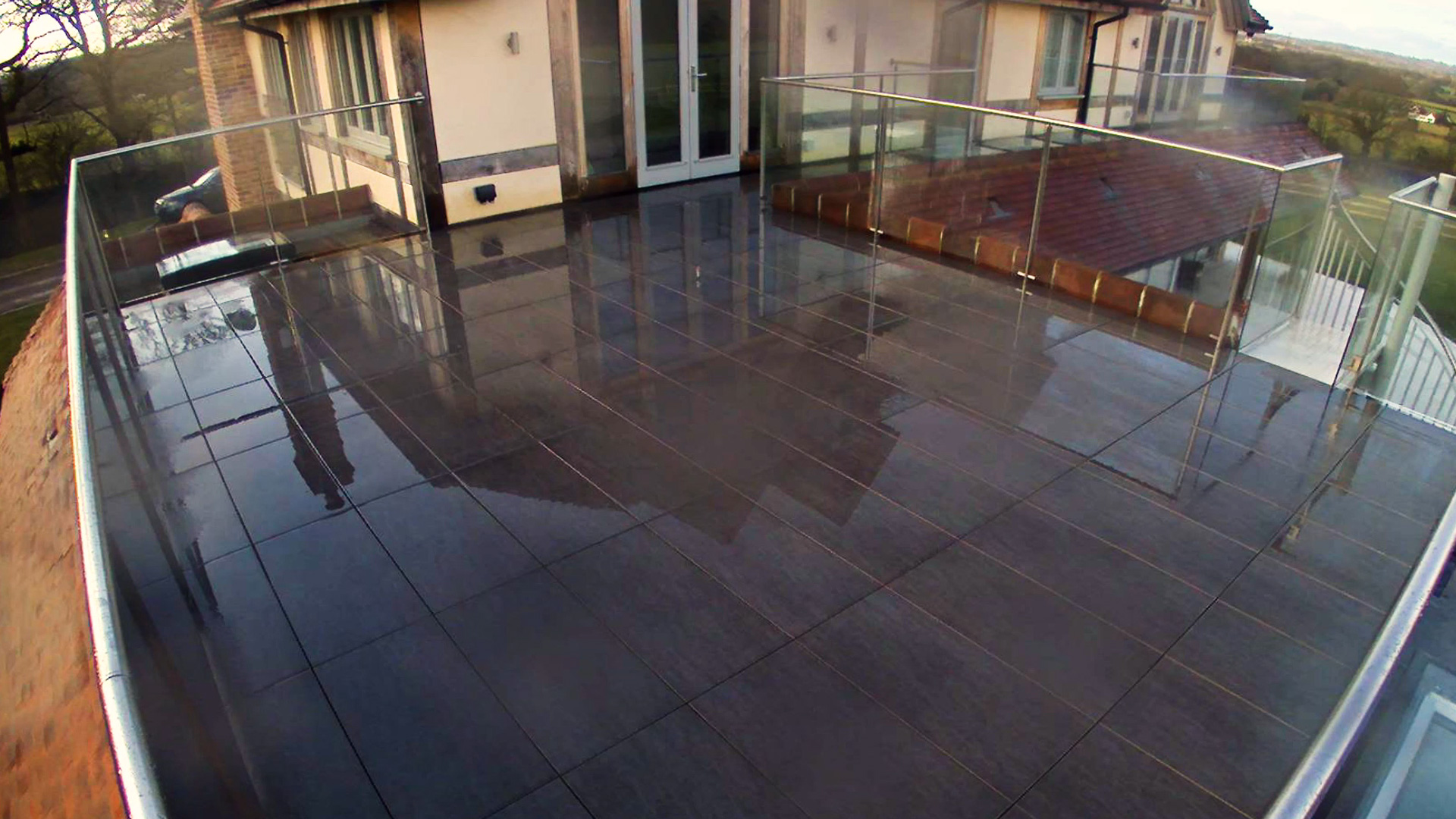 Rail System for laying porcelain tiles, Albourne, West Sussex