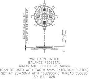 25-50mm BALANCE adjustable pedestal