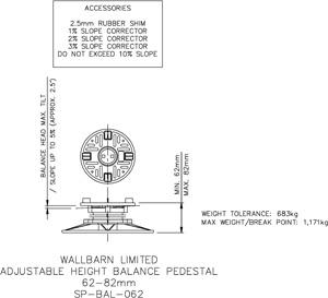62-82mm BALANCE adjustable pedestal