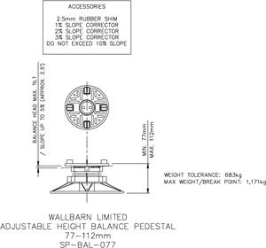 77-112mm BALANCE adjustable pedestal