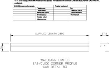 Easyclick Corner Profile (CAD Detail B3)