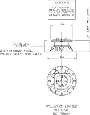 Mega Pad 50mm-75mm