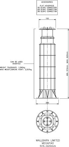 Mega Pad 515mm-620mm
