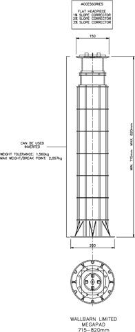 Mega Pad 715mm-820mm