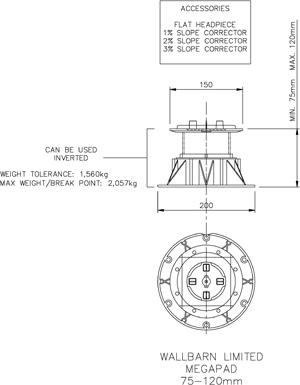 Mega Pad 75mm-120mm