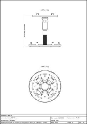 Class A2-s1, d0 Pedestal for Decking 100-140mm