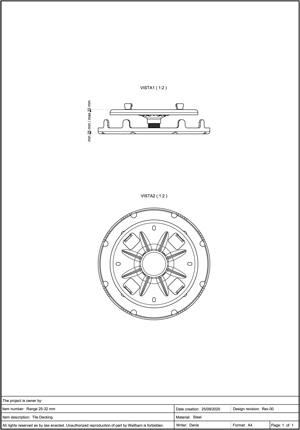 Class A2-s1, d0 Pedestal for Decking 25-32mm