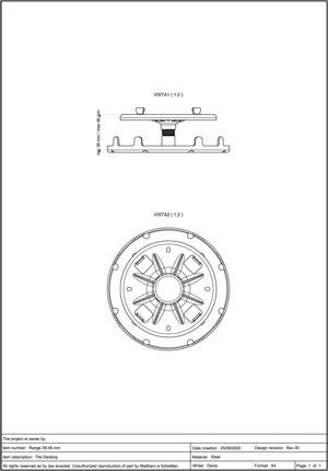 Class A2-s1, d0 Pedestal for Decking 39-46mm