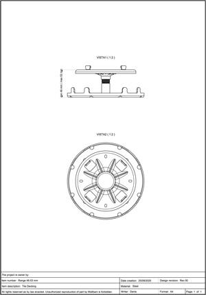 Class A2-s1, d0 Pedestal for Decking 46-53mm