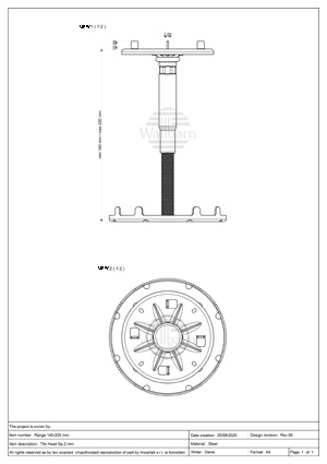 Class A1 Pedestal for Paving 140-220mm