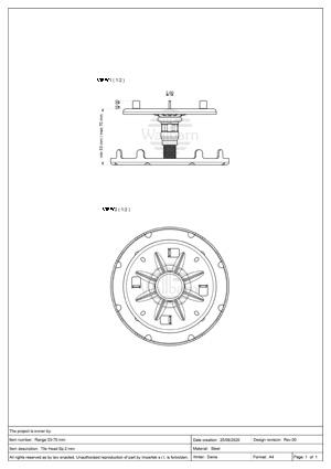 Class A1 Pedestal for Paving 53-70mm