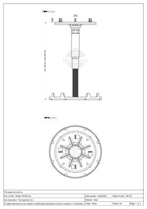 pdf Class A1 Pedestal for Paving 140-220mm
