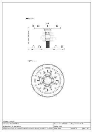 Class A1 Pedestal for Paving 70-100mm
