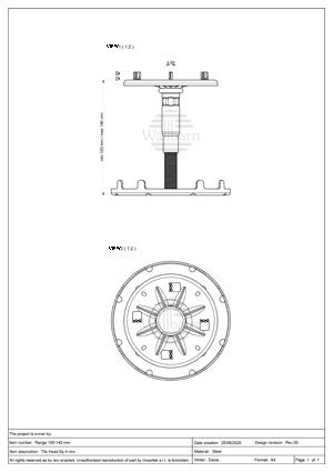Class A1 Pedestal for Paving 100-140mm