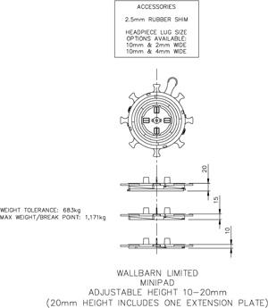 Minipad 10mm-20mm
